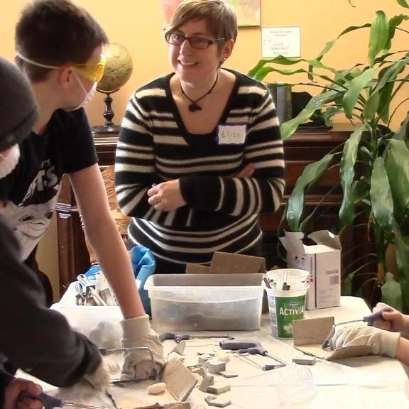 FABcamp participants stone work